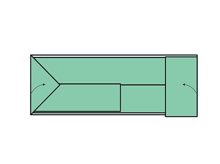 【4】 お太鼓に折り目がつかないように折る